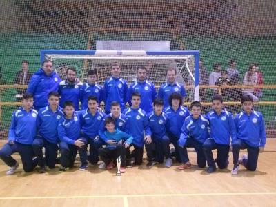 Campeón e terceiro clasificado en categoría cadete no torneo de futsal Vila de Verín.